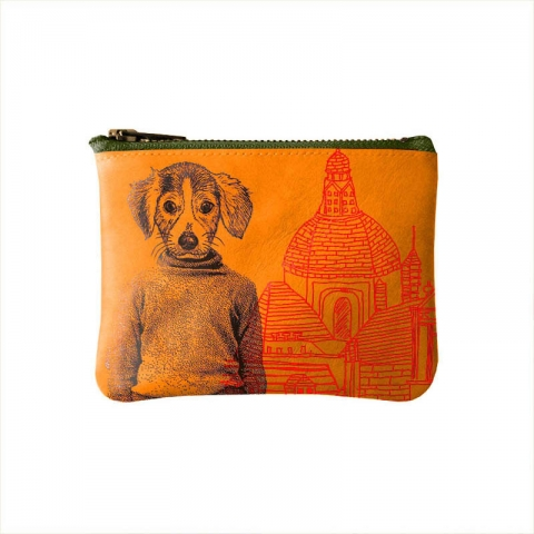 Porte-monnaie-orange-beagle