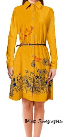 Robe-chemise-jaune