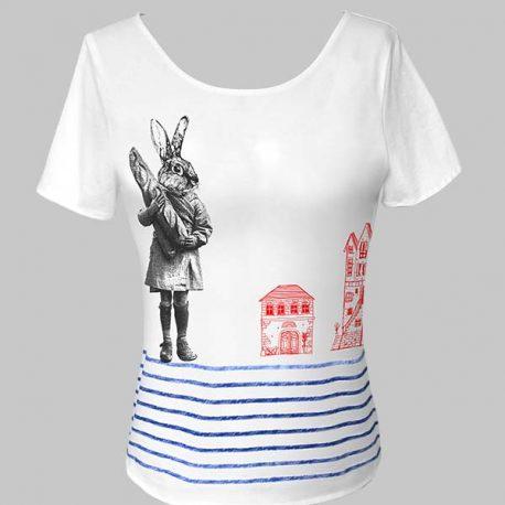 T-shirts blanc lapin maisons